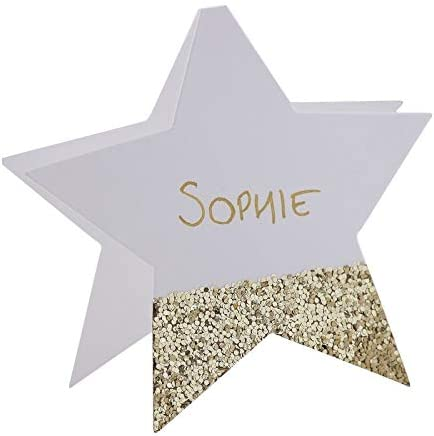Christmas Party Place Cards Pack of 50 Silver Classic Placecards