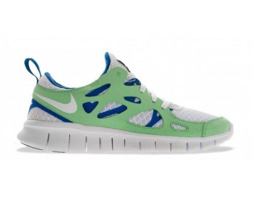Nike Zapatillas Running Nike Free Run 2 (Gs) white-poison green-hyper blue-black (443742-134)