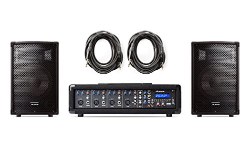 - Alesis PA System in a Box | 280-WATT (80 WATTS CONTINUOUS) 4-CHANNEL PA SYSTEM