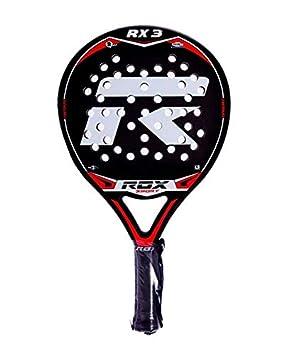 Rox RX3 Pala de pádel, Unisex Adulto, Negro/Rojo/Gris, 38 mm: Amazon.es: Deportes y aire libre