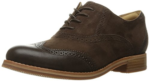 (Sebago Women's Claremont Brogue Boot, Brown Suede, 11 M)
