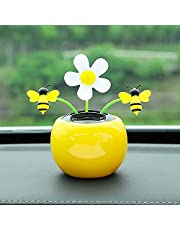 Solar Dancing Sunflower, Solar Powered Dancing Bee, Cute Solar Power Flip Flap Flower Insect for Car Decoration Swing Dancing Flower Eco-Friendly Solar Dancing Flowers in Colorful Pots