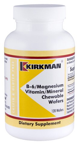 B-6/Magnesium Vitamin/Mineral Chewable Wafer 120 Count For Sale
