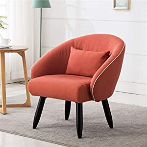 Lansen Furniture Modern Accent Arm Chair Leisure Club Seat with Solid Wood Legs