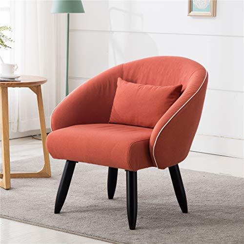 Lansen Furniture Modern Accent Arm Chair Leisure Club Seat with Solid Wood Legs Orange