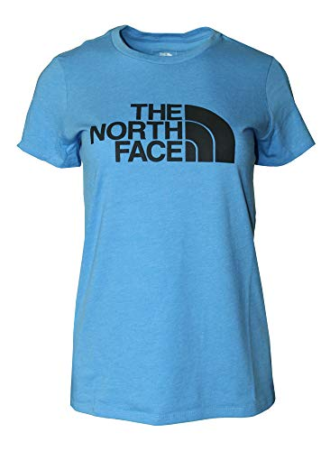The North Face Women's Short Sleeve HalfDome Tee Athletic Top Shirt (Marina Blue Heather, S)