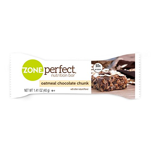 ZonePerfect Nutrition Snack Bars, High Protein Energy Bars, Oatmeal Chocolate Chunk, 1.76 Ounce Bar, 5 Count