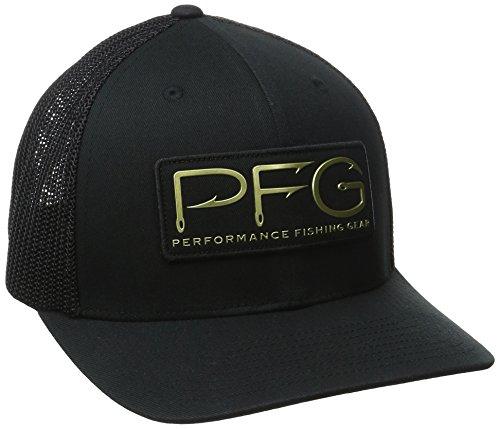 Columbia Adult PFG Mesh Ball Cap, Black/PFG Hook Patch, - Black Columbia Lens