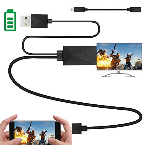 Kingm mhl to hdmi Adapter for Android Devices Micro USB to HDMI Adapter Converter Cable 1080P HDTV for Samsung Galaxy S2 S3 S4 Note 2 3 4 Galaxy Tab 3 8.0, Tab 3 10.1 Android Devices (5Pin + 11Pin) (Kindle Hd To Tv Hdmi)
