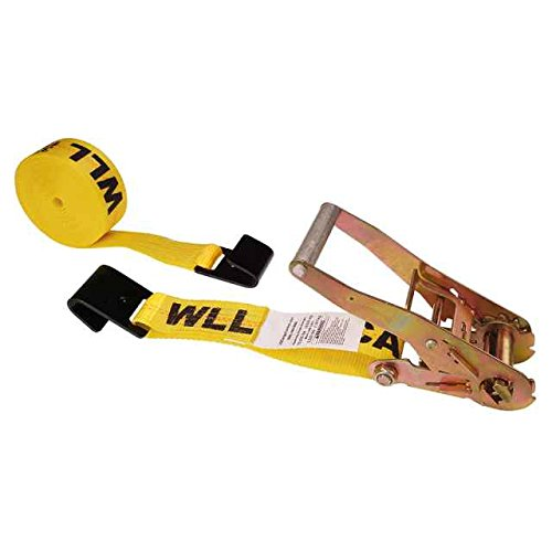 2'' X 50' Ratchet Tie Down Strap with Long, Wide Handle & Flat Hooks by US Cargo Control (Image #5)
