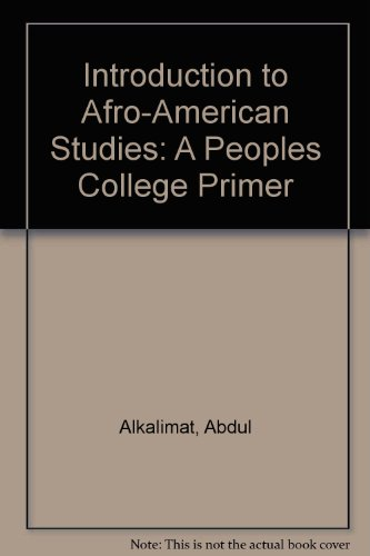 Books : Introduction to Afro-American Studies: A Peoples College Primer