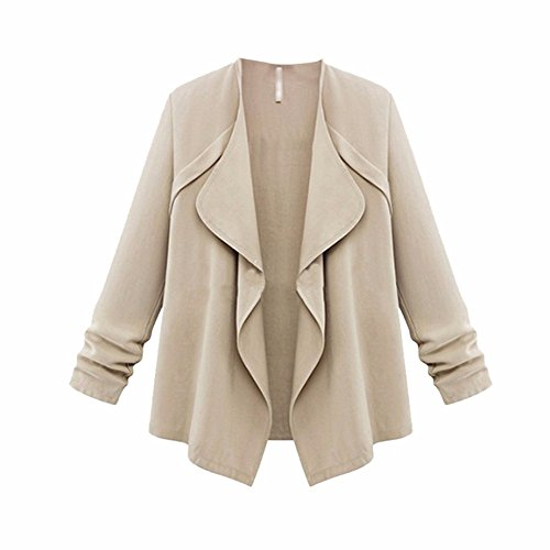 Autumn XOWRTE Women Tunic Autumn Long Coat Outerwear Plus Spring Sleeve Khaki Solid Loose Blouse Jacket Cardigan Size UFrnUAwqx6