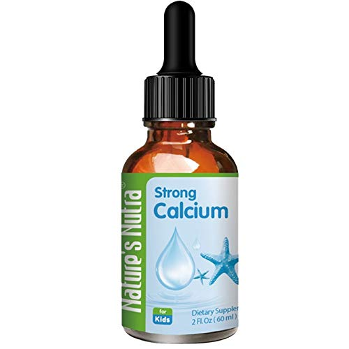 Nature's Nutra Strong Calcium + K2, 2 Fl. Oz (60ml), Premium Baby and Infant Liquid Drops, Toddlers Kids Children Multivitamin Supplement, High Absorption, Healthy Bone and Teeth