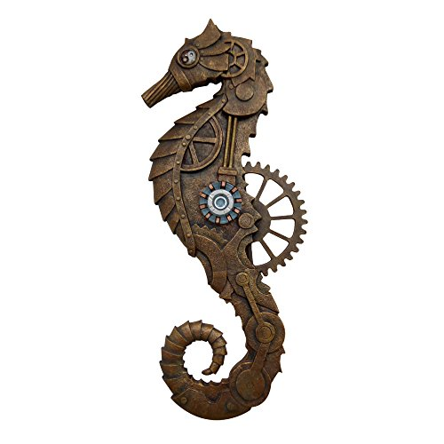 Wall Plaque Decor Hanging Arts Steampunk Seahorse 22 Inches by Bingo Castle