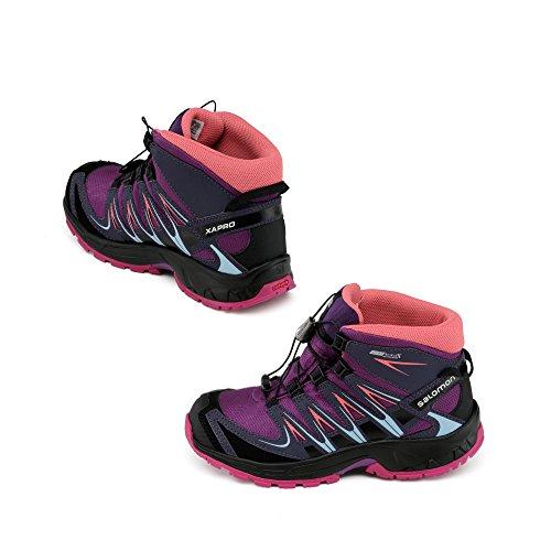 Salomon Purple Senderismo Deep Morado Para L39029800 Grey Niños Botas Nightshade De passion 6aq6w8r