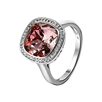 Xuping 2017 Black Friday Intimacy Lover Round Rings Fashion Crystals from Swarovski Women Rings Jewelry Birthday Christmas Gifts (Crystal Antique, 9)