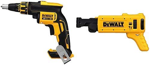 DEWALT DCF620B 20-volt MAX XR Li-Ion Brushless Drywall ScrewGun Tool Only with DCF6201 20-volt MAX XR Li-Ion Drywall ScrewGun Cordless Collated Magazine Attachment
