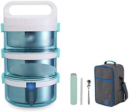 キッズ大人のランチボックスに適しステンレス保温ポット2200ミリリットル、コンパクトサイズホームオフィスランチボックス、 YANGBM (Color : Blue)