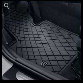 MINI Essential Black All Weather Floor Mats - Front