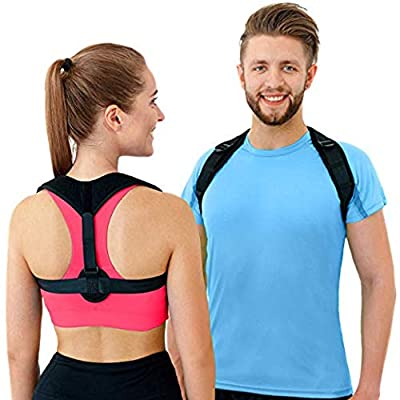 Rassfit Figure 8 Posture Corrector | Invisible Shoulder Posture Strap For Men & Women | Effective Shoulder Corrector For Posture Brace | Discreet Clavicle Posture Support & Alignment Shoulders Support