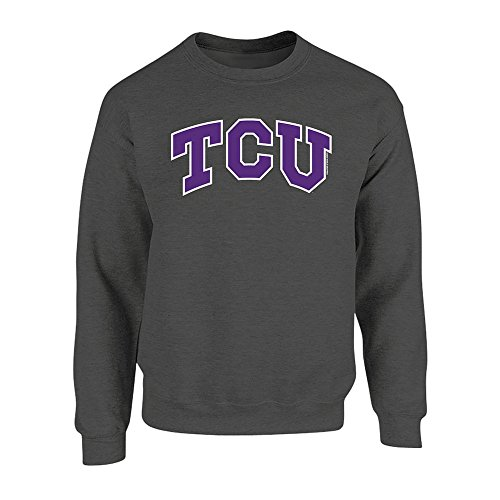 - Elite Fan Shop TCU Horned Frogs Crewneck Sweatshirt Charcoal - XXL