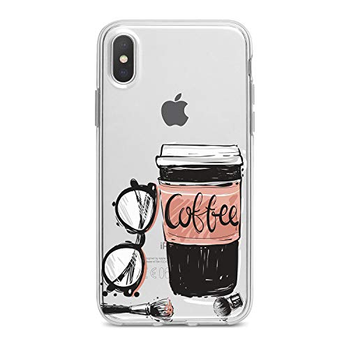 (Lex Altern TPU iPhone Glamours Xs Max Case Xr X 8 Plus 7 6s 6 SE 5s 5 Cute Coffee Pink Pattern Apple Phone Cover Silicone Print Girl Gentle Design)