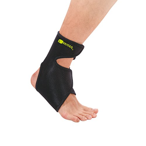SENTEQ Ankle Brace Support Strap - One Size, Extended High Ankle Collar. Medical Grade & FDA Approved. Neoprene Ankle Compression Wrap (SQ1 (Extended Ankle Wrap)