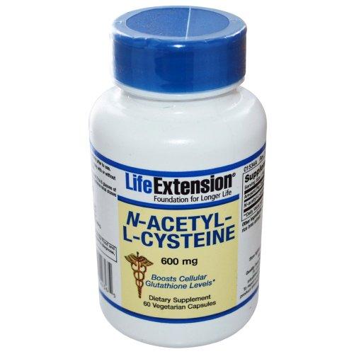 Life Extension N-Acetyl-L-Cysteine (NAC) - 60 - 600mg Veggie - Mg 600 Caps Nac 60