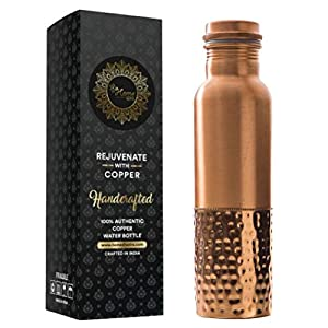 HomeShastra® Pure Copper Water Bottle, 950ml, Set of 1