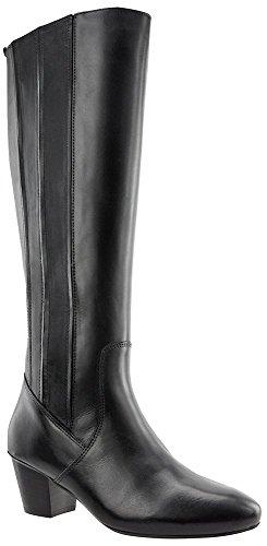 JJ Footwear Damen Stiefel Leder Managka XL Schwarz Cow Nappa 37
