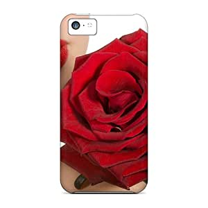 High Impact Dirt/shock Proof Cases Covers For Iphone 5c (red Rose)