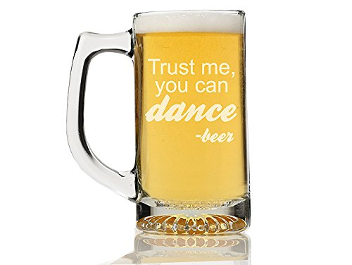Chloe and Madison ''Trust me you Can Dance Beer'' Mug, Set of 4 by Chloe and Madison (Image #1)