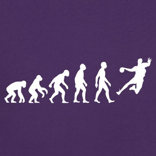 Evolution Of Man Handball - Femme T-Shirt - Violet - M