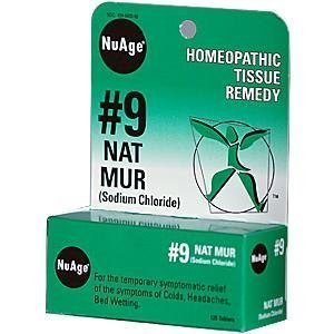 NuAge Tissue Salts Natrum Mur 6X 125 Pellets by Hyland's Homeopathic (Tissue Nuage Hylands Salts)
