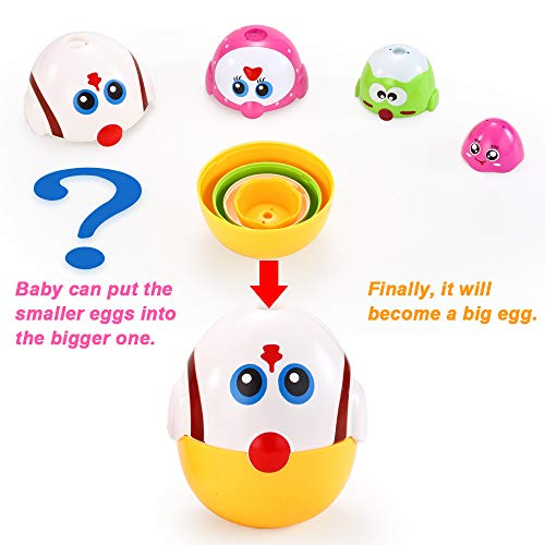 VATOS Nesting Easter Plastic Eggs Toy, Eggs Stacking Toy, Stacker Toys for 18 Months+ Baby Infant Toddler, Educational Toys for 1.5+ Years old Girl and Boys, Cute Chicken Family Style Baby Toddler Toy by VATOS (Image #2)