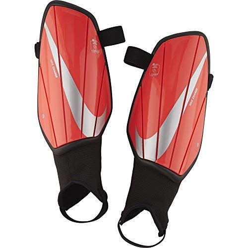 Nike Charged Soccer Shinguards Light Crimson/Pure Platinum Size Large