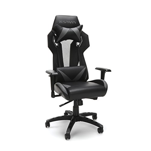 RESPAWN-205 Racing Style Gaming Chair -  Ergonomic Performance Mesh Back Chair, Office or Gaming Chair (RSP-205-GRY) OFM Education