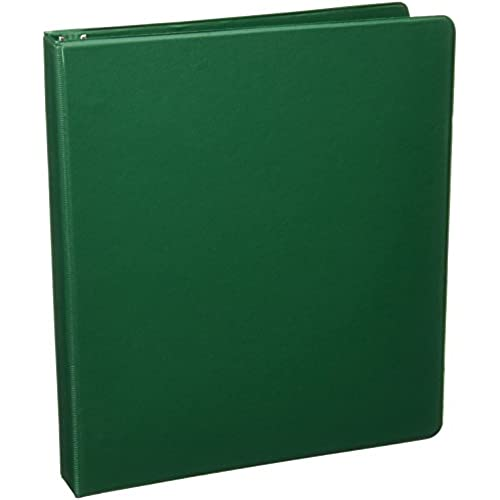 sparco 3 ring binder 1 inch capacity 11 x 8 1 2 inches green