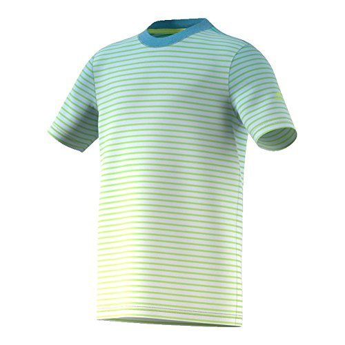 adidas Boys Tennis Melbourne Tee, Semi Frozen Yellow/Ash Blue, X-Large