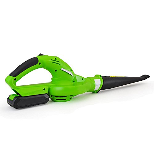 Updated SereneLife Electric Leaf Blower, Cordless, Lightweight - Only 5 lbs., Perfect For Leaves & Debris, Rechargeable Battery & Charger Included, Average Charge Time 4 Hrs, 18V, 55 MPH (PSLHTM32)