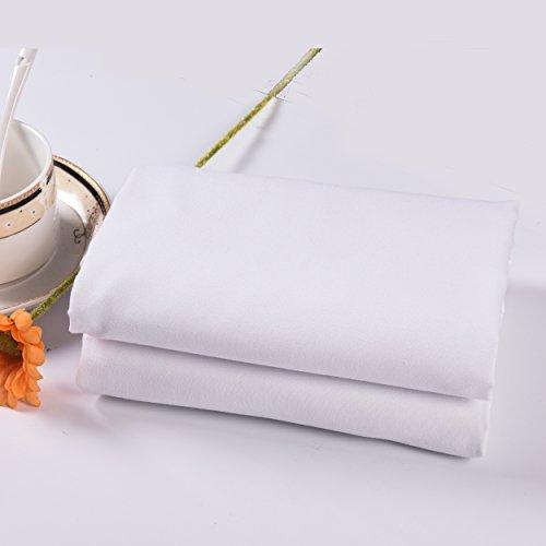 Lullabi Bedding 100% Brushed Microfiber Ultra Soft Pillow Case Set - Envelope Closure End - Wrinkle, Fade, Stain Resistant (White, Standard Pillowcase) ()