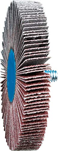 PFERD 45431 3'' x 1/2'' Quick Change Flap Wheel 1/4-20 Thread - Aluminum (10pk)