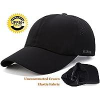 ELLEWIN Classic Plain Baseball Cap UPF 50 Unstructured Hat For Men And Women