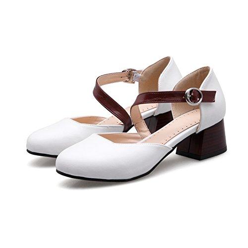 Femme ASL05338 Blanc EU Blanc 36 Compensées 5 Sandales BalaMasa nt1RWUxwOW