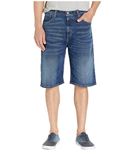 Levi's Men's 569 Loose Straight Denim Shorts, Garland - Stretch, 33 (Waist Below Jeans)