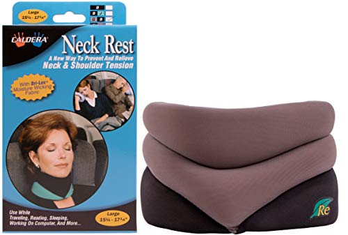 CALDERA Releaf Neck Rest - Innovative, Patented Neck Rest That Keeps Your Head And Neck In Good Posture To Allow Your Neck & Shoulder Muscles To Relax (Large, Granite)