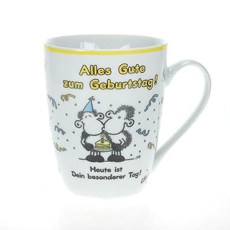 Sheepworld favorito taza de feliz cumpleaños!: Amazon.es: Hogar