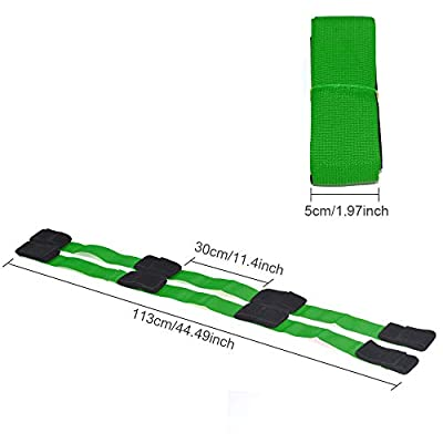 4 Legged Race Bands Outdoor Game for Kids Adults Birthday Team Party Games with Carry Bag: Health & Personal Care