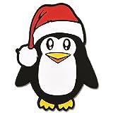 PinMart's Pengin Christmas X-Mas Animal Santa Hat Enamel Lapel Pin