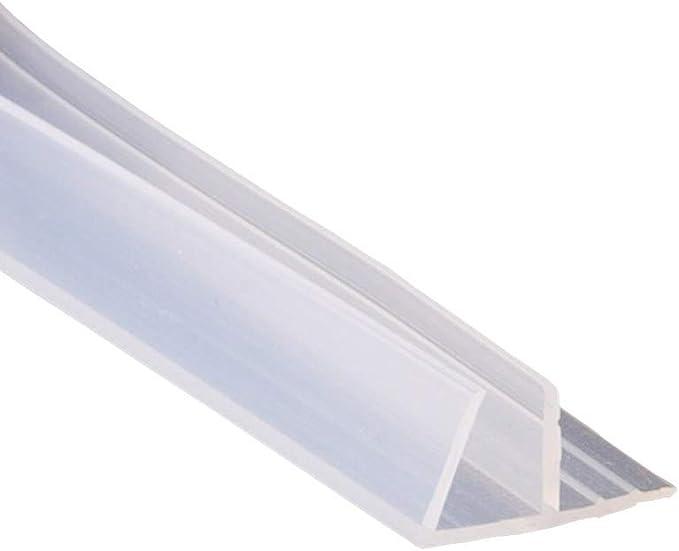 Mintice tira de sellado de la puerta del baño sello de espacio de ventana de mampara de ducha curvo plano caucho vaso fondo clima 10mm 39